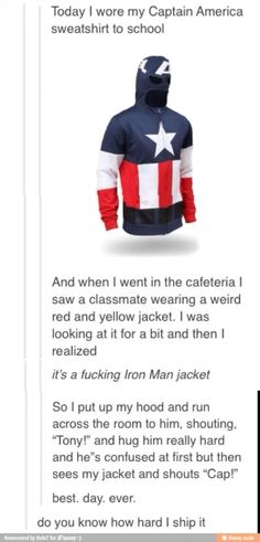 Avengers assemble<< I wish people at my school wore superhero clothing, whether its a shirt or hoodie, and this occurred
