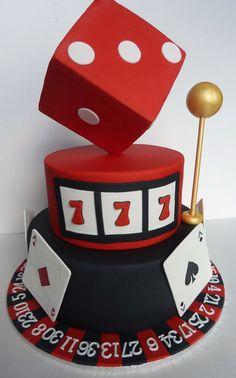 Casino theme cake by Incredible Edible Cakes Casino Theme Parties, Casino Party, Casino Night, Party Themes, Vegas Theme, Vegas Party, Mini Hamburgers, Casino Royale, Halloumi