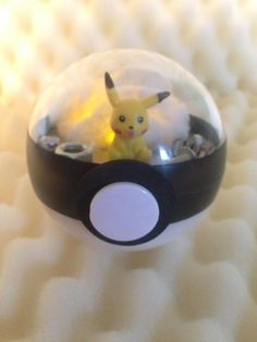 Pokémon Terrarium - Pikachu Illuminated LED - 10cm by TerrariumPlanet on Etsy