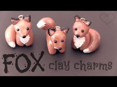 ▶ The FOX charm! Polymer Clay How To