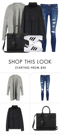 """""""Style #11703"""" by vany-alvarado ❤ liked on Polyvore featuring Acne Studios, J Brand, H&M, Yves Saint Laurent and adidas Originals"""