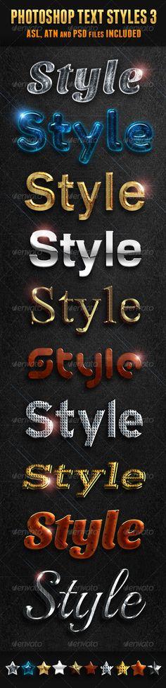 Photoshop Text Styles 3