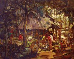 Cheng Shui (Bogor, West Java, 1981) - Pasar. Indonesian Art, Traditional Market, Dutch East Indies, Dutch Colonial, Bogor, Cata, Balinese, Painters, Photo Art