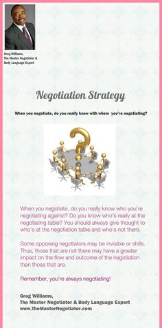 7 Best Quotes By Greg Williams The Master Negotiator Body