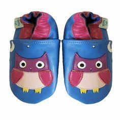 Dotty Fish - Dotty Fish Acogedoras Y Suaves Zapatos De Gamuza Para Bebé Con Suela De Gamuza Diseño De Búho - Talla : 0-6 Meses - Color : Azul Anciano Y Rosado de Dotty Fish, http://www.amazon.es/dp/B00C2O6V9G/ref=cm_sw_r_pi_dp_VMuhsb00NK0NK