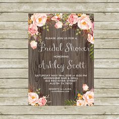 Bridal Shower Invitation Printable, Bridal Shower Invites