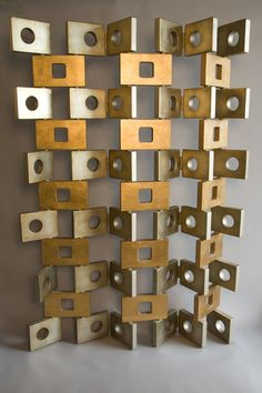 Modern & richly textured stacked metal. Xk #kellywearstler
