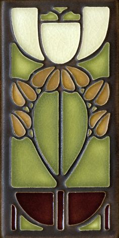 4x8 Bellflower in Olive by Motawi Tileworks