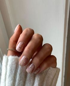 The 45 pretty nail art designs that perfect for spring looks 8 9 Short Nail Manicure, Manicure Ideas, Ten Nails, Blush Nails, Glitter Nails, Summer Gel Nails, Short Nails Art, Ideas For Short Nails, Nail Ideas For Summer