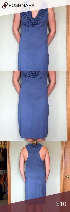 Blue Benetton dress Benetton dress has never been worn. Very soft. United Colors Of Benetton Dresses