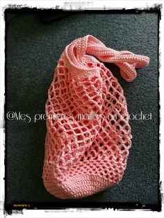 Mesh Internet My First Crochet Mesh Filet Crochet, Diy Crochet, Crochet Stitches, Net Bag, Mesh Netting, Owl Hat, Market Bag, Knitted Bags, Ashlee Simpson