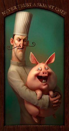 Illustration - Never Trust A Skinny Chef