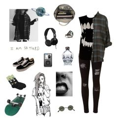 """-"" by fallenst4r ❤ liked on Polyvore featuring Vans, Skullcandy, HOT SOX, Esperos, Chictopia, Topman and CO"