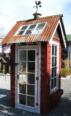 Red shed recycled materials