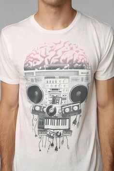 Music Skull Tee #urbanoutfitters