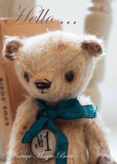 Bear by VintageMagpieBears - she makes the cutest bears and bunnies too!