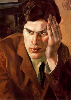 Portrait of Richar Carline, 1923-Stanley Spencer - by style - Neo-Romanticism