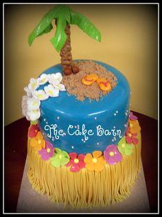 Luau Cake — Birthday Cakes