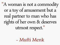 Not convinced? Google him or look him up on YouTube.  MUFTI MENK