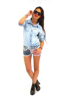GYPSY JUNKIES Color Liberty Cutoffs #gypsyjunkies