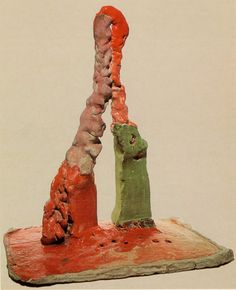 1, 1963; fired and glazed ceramic. 25 in. high. Courtsey of Peter Voulkos.