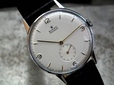 Vintage Watches Collection : Stunning over size rolex precision sub-second gents vintage watch Vintage Rolex, Vintage Watches, Mode Man, Field Watches, Watches Photography, Rolex Date, Hand Watch, Luxury Watches For Men, Beautiful Watches