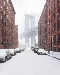 New York City, Winter Magic, Winter Landscape, Landscape Art, City Photography, Belle Photo, Color Pop, Beautiful Places, Places To Visit