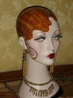 *Enchanting Dress Forms... Ooh la la... Mannequin head