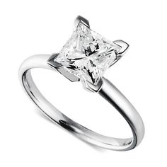 2CT Certified Pincess Cut Solitaire Ring