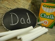 Chalkboard Extra Large Belt Buckle Fathers Day by StepOriginals