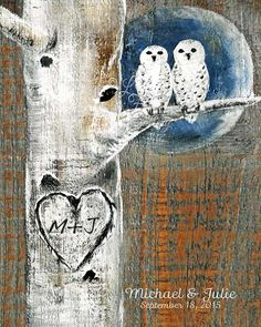 Print of Snowy Owl Painting Custom Wedding by LindaFehlenGallery