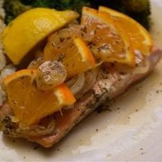 Cocktail Recipes - Orange Roasted Salmon is one of the best, most complete recipes that are suitable for your family, friends and colleagues Orange Recipes, Salmon Recipes, Fish Recipes, Seafood Recipes, Great Recipes, Dinner Recipes, Cooking Recipes, Healthy Recipes, Healthy Meals
