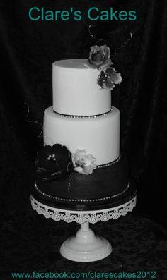 Black and Bling Wedding Cake