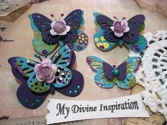 Violet Turquoise and Green Paper by mydivineinspiration on Etsy, $3.49