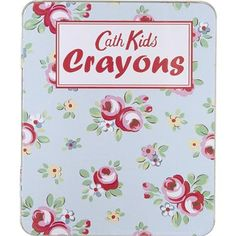 This pretty little tin contains an assortment of brightly coloured wax crayons. Wax Crayons, Cath Kidston, Kids Bags, Party Gifts, Pretty Little, Little Ones, First Love, Kids Fashion, Stationery