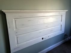 Luxury How To Reuse Sawdust 25 Luxury How to Reuse Sawdust Beautiful King Headboard From Old Door Annie Sloan Pure White Chalk Paint Diy King Headboard, Headboard From Old Door, Door Headboards, White Headboard, Nautical Headboard, Wall Headboard, Headboard With Lights, Headboard Ideas, Annie Sloan