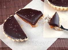 Gluten-Free Chocolate and Salted Caramel Tarts