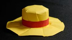 Origami Straw Hat - Mugiwara tutorial - DIY (with diagram) (Henry Phạm) Diy Origami, Origami Top Hat, How To Make Origami, Origami Folding, Useful Origami, Origami Tutorial, Origami Paper, Paper Hat Diy, Scouting