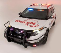 Ford Police Utility vehicle, with lighting and equipment upfit by Whelen Engineering.