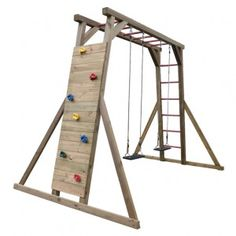 Outdoor Fun For Kids Backyard Playground Kids Backyard Playground, Backyard For Kids, Backyard Projects, Childrens Swings, Backyard Obstacle Course, Kids Climbing, Outdoor Fun For Kids, House On Stilts, Kids Swing