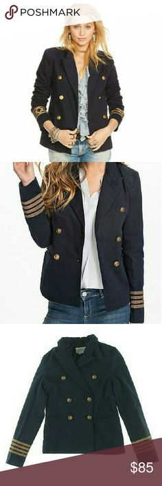 Ralph Lauren- Denim & Supply Military Blazer NWT. Navy military style blazer. Never worn. I bought it because I really liked it so I tricked myself into thinking it would fit me but it doesn't. Ralph Lauren Jackets & Coats Blazers