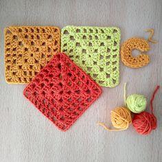 Lana, Knitting Squares, Crochet Symbols, Beginner Crochet, Magic Ring, How To Knit, Free Pattern
