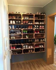 """Get excellent suggestions on """"laundry room storage diy shelves"""". They are actually accessible for you on our internet site. Laundry Room Storage, Shoe Storage, Diy Storage, Affordable Furniture, Affordable Home Decor, Staircase Storage, Apple Boxes, Under Stairs Cupboard, Mudroom"""