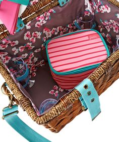 Joules Four Person Wicker Picnic Basket