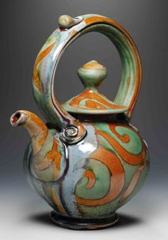 This site is intended to inform Brad Henry Pottery past and future customers of who I am, where I will be and items available for immediate purchase. Pottery Teapots, Teapots And Cups, Ceramic Teapots, Ceramic Clay, Ceramic Pottery, Pottery Art, Teapots Unique, Modern Teapots, Vintage Teapots