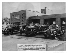 ECFD Station 10 Historic Photo Photograph │ Other great photos of the Fire Department in Eau Claire