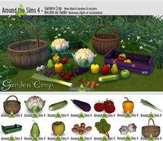Around the Sims 4 | Garden Crop We're at this time of the year where there's some hard work to do in the garden. Thinking to all the beautiful…
