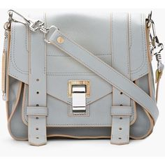 PROENZA SCHOULER Grey   Banana Yellow Leather Pouch Shoulder Bag and other  apparel 20f05d37689