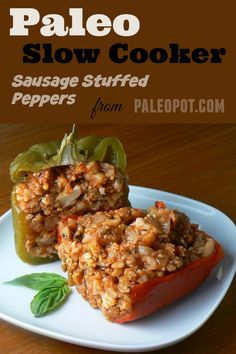 Sausage and In Peppers  Sausage and peppers has always been one of my favorite Italian comfort foods, and also rather easy to make. I had been pondering writing some new stuffed pepper recipes due to their