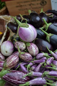 Eggplant at the Tower Grove Farmers' Market in St. Louis, MO. Photo by Danie M. Becknell, 10/20/2012